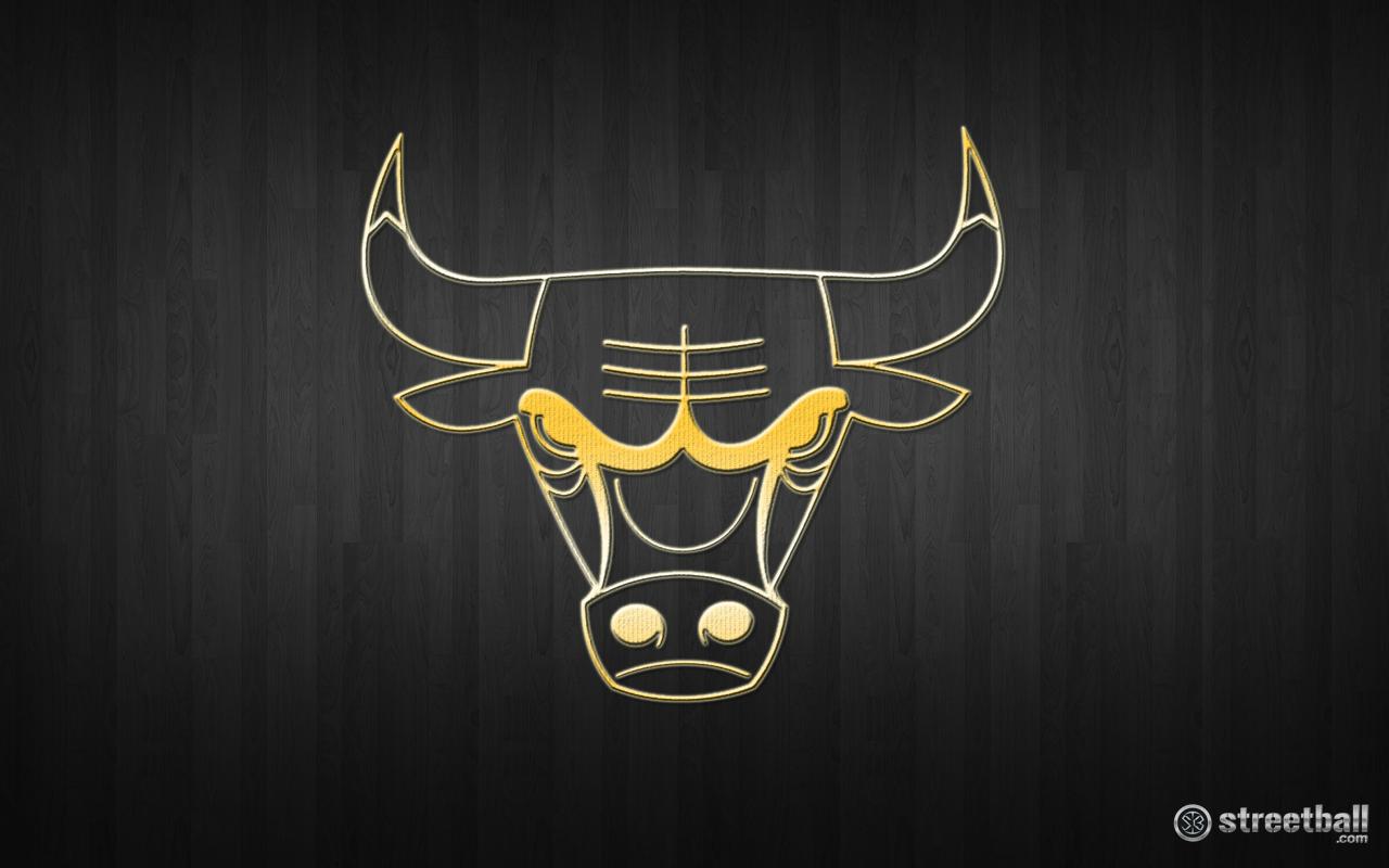 NBA Chicago Bulls Gold Wallpaper - Streetball