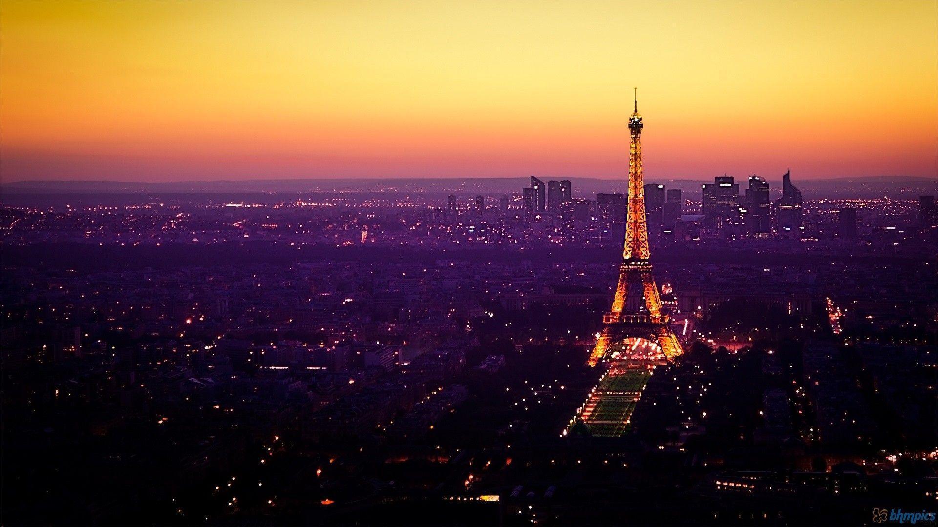 Hd wallpaper eiffel tower - Paris Eiffel Tower Night Hd Wallpaper Of Nature Hdwallpaper2013