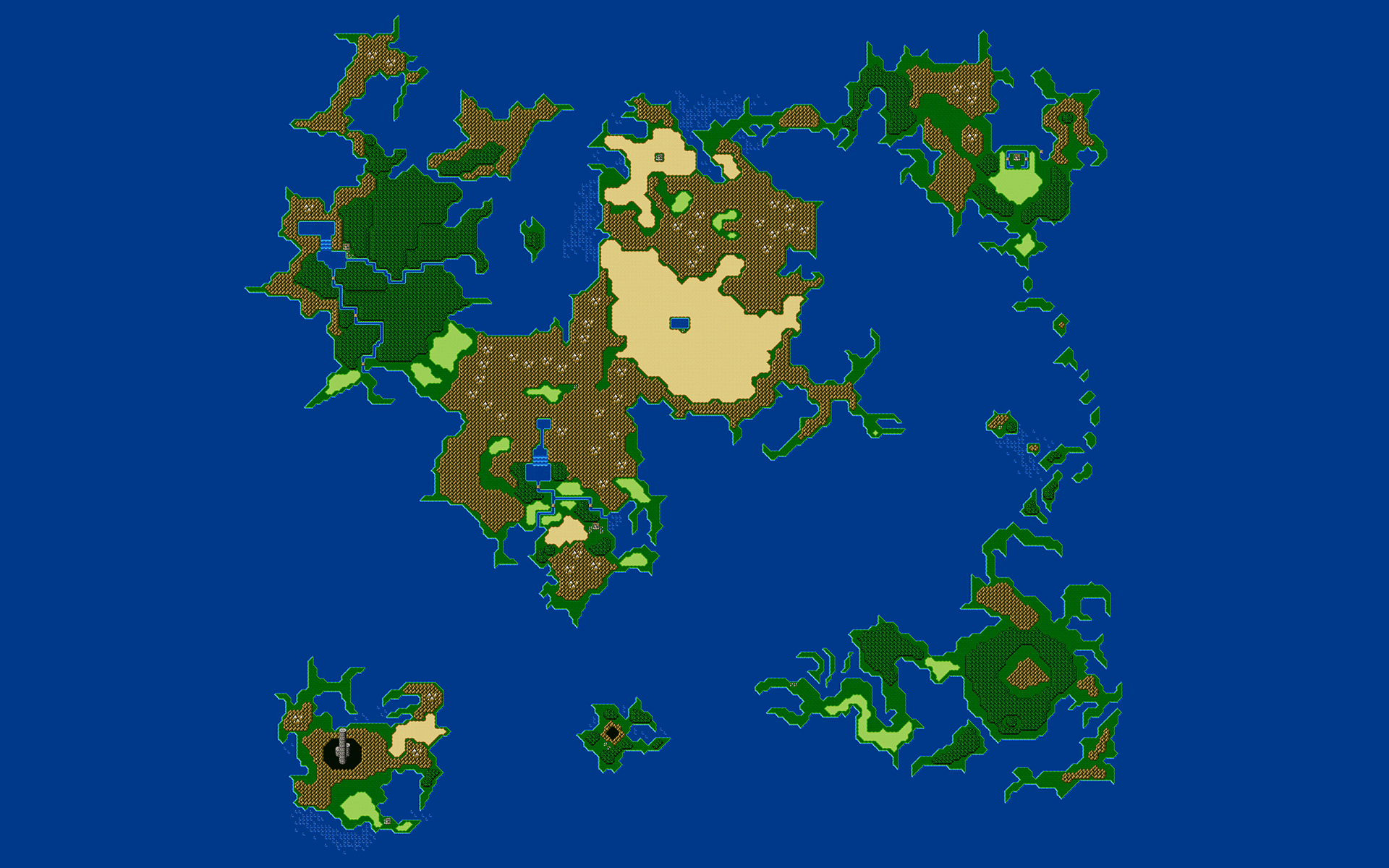 Final Fantasy 4 Map wallpapers