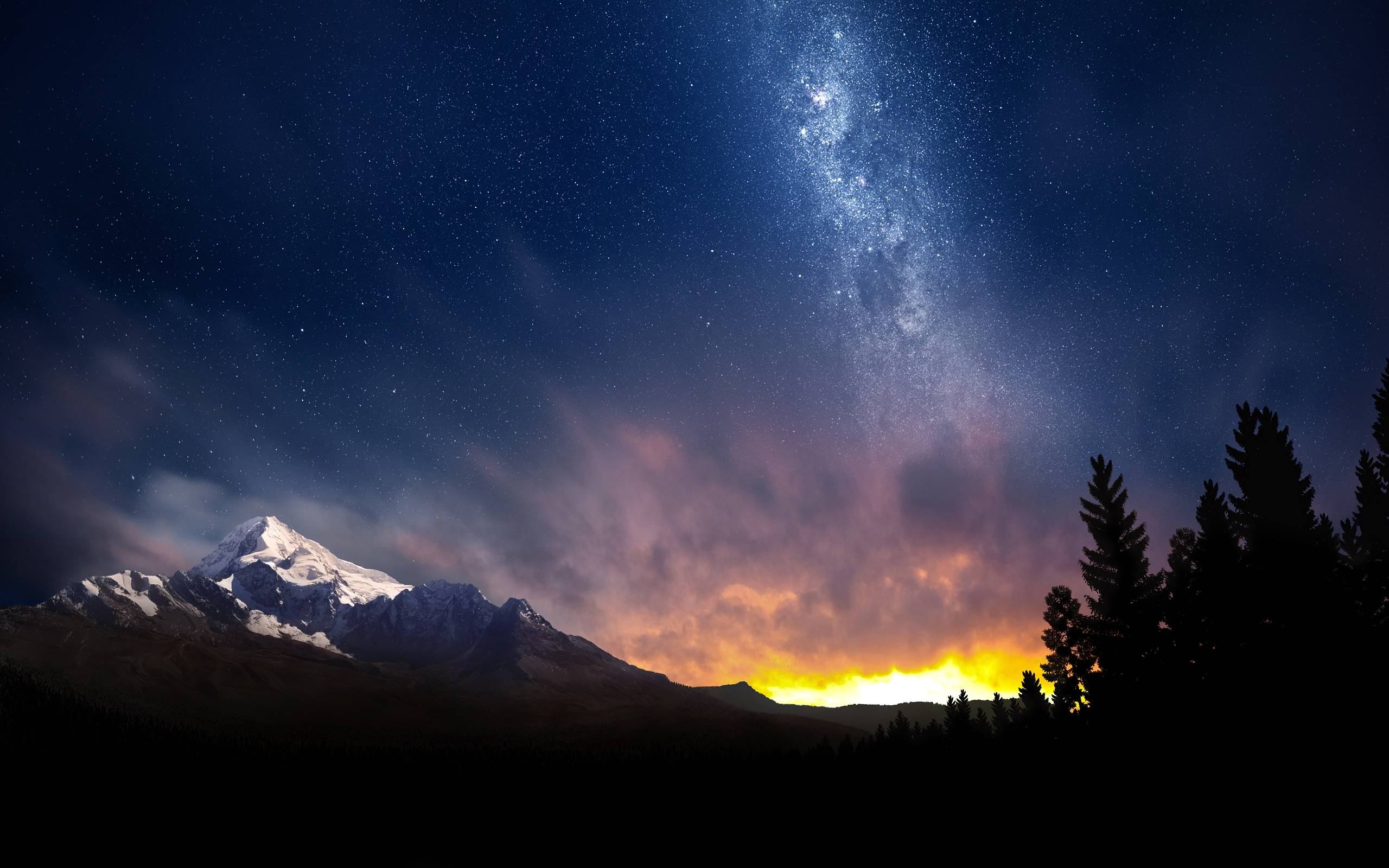 Wallpapers For > Night Sky Backgrounds Hd
