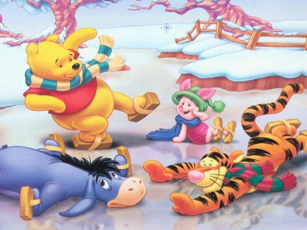 Wallpaper Winnie The Pooh: Winnie The Pooh Christmas Wallpapers