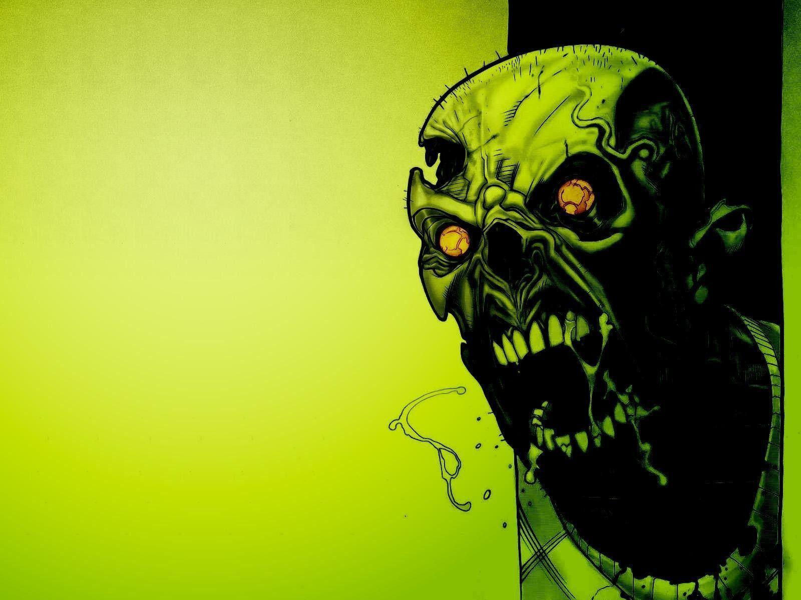 Image For > Green Skull Wallpapers