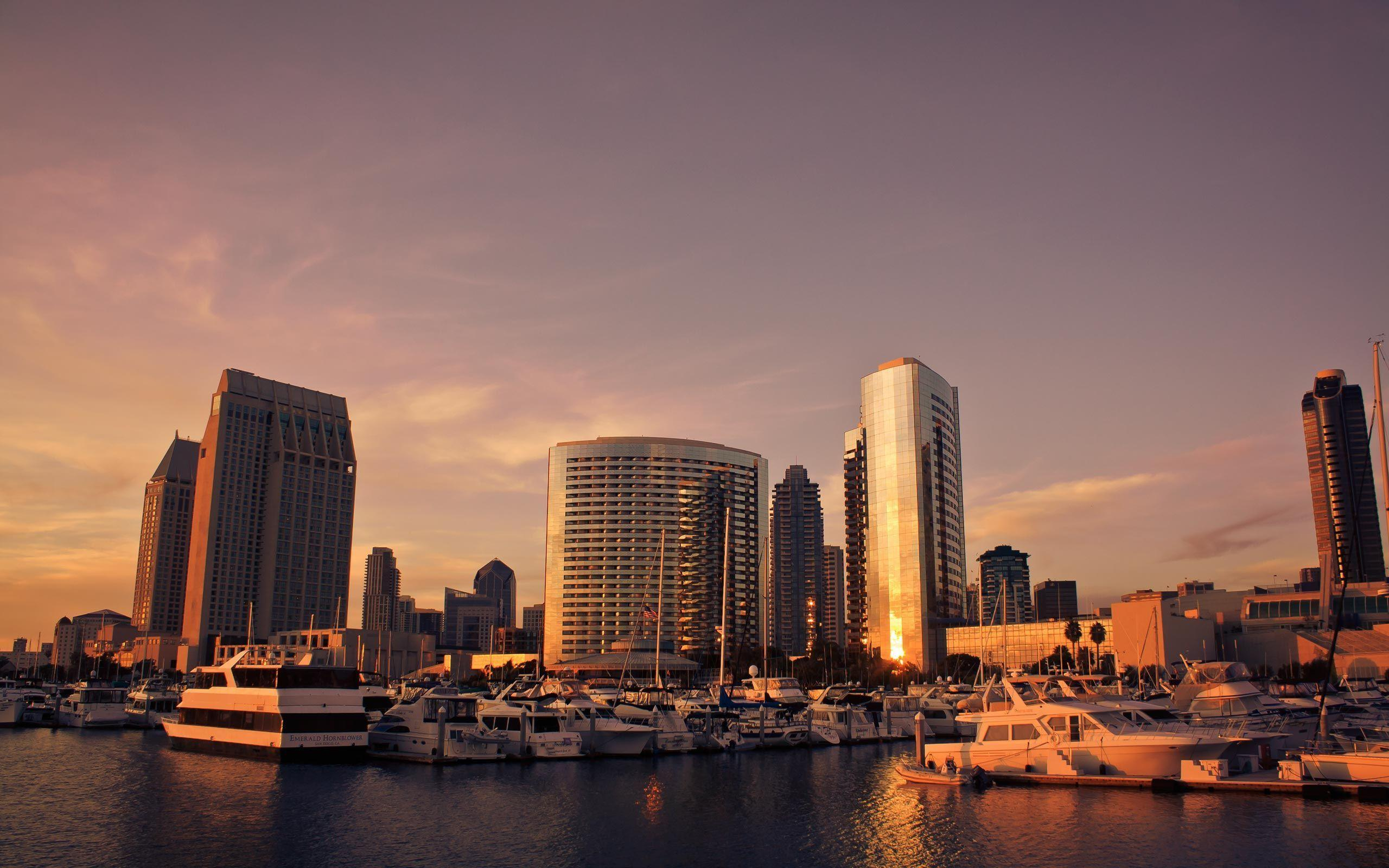 Free Wallpapers - San Diego Sunset wallpaper