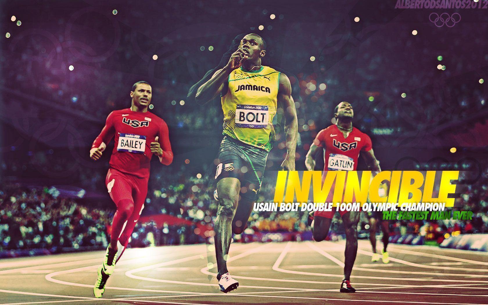 Free Wallpapers - Usain Bolt 2012 1680x1050 wallpaper