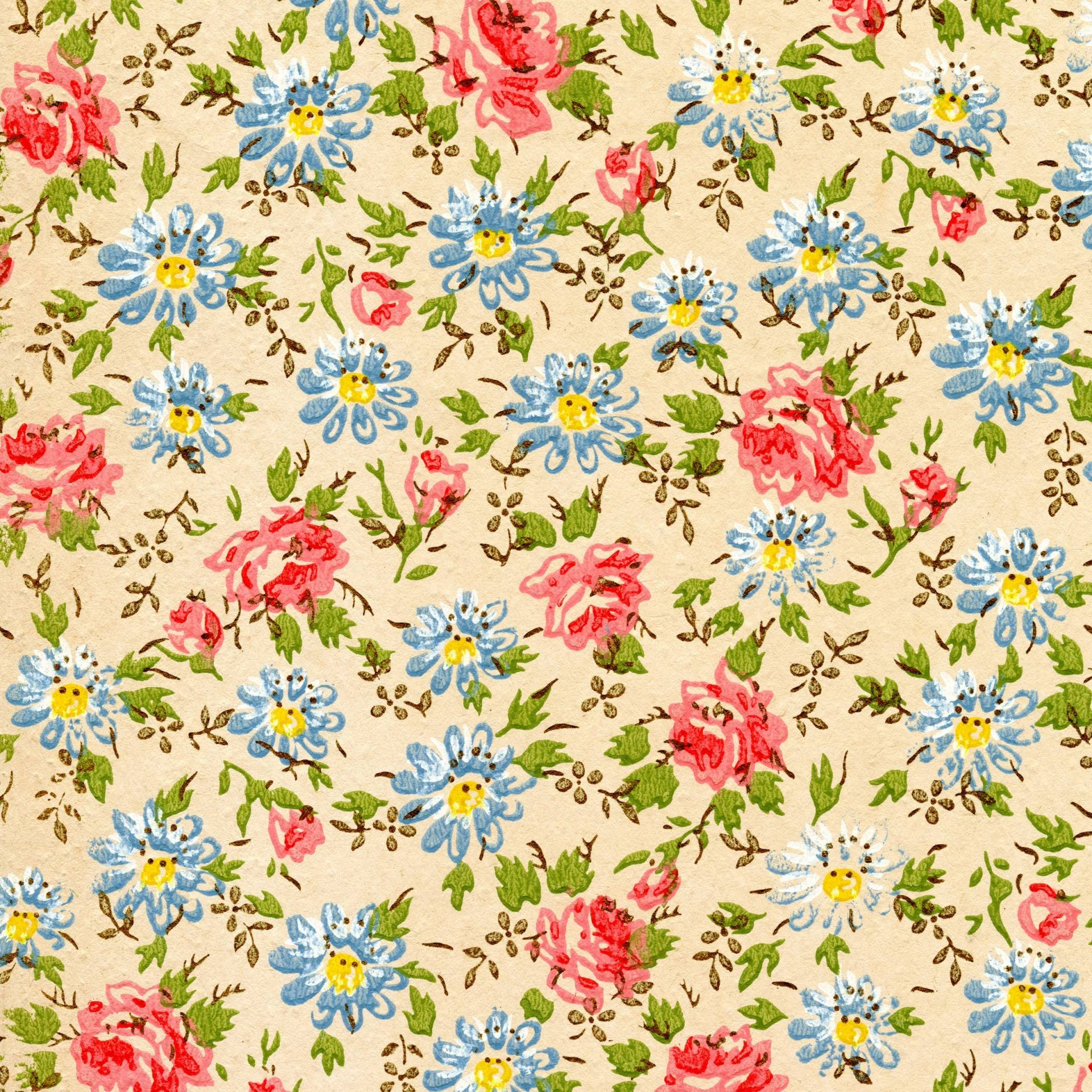 Vintage Flower Wallpaper For Iphone