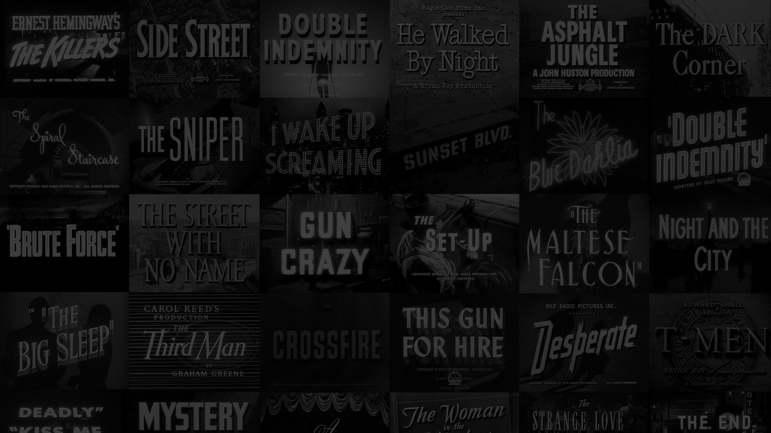 Hd Film Noir Wallpapers Wallpaper Cave