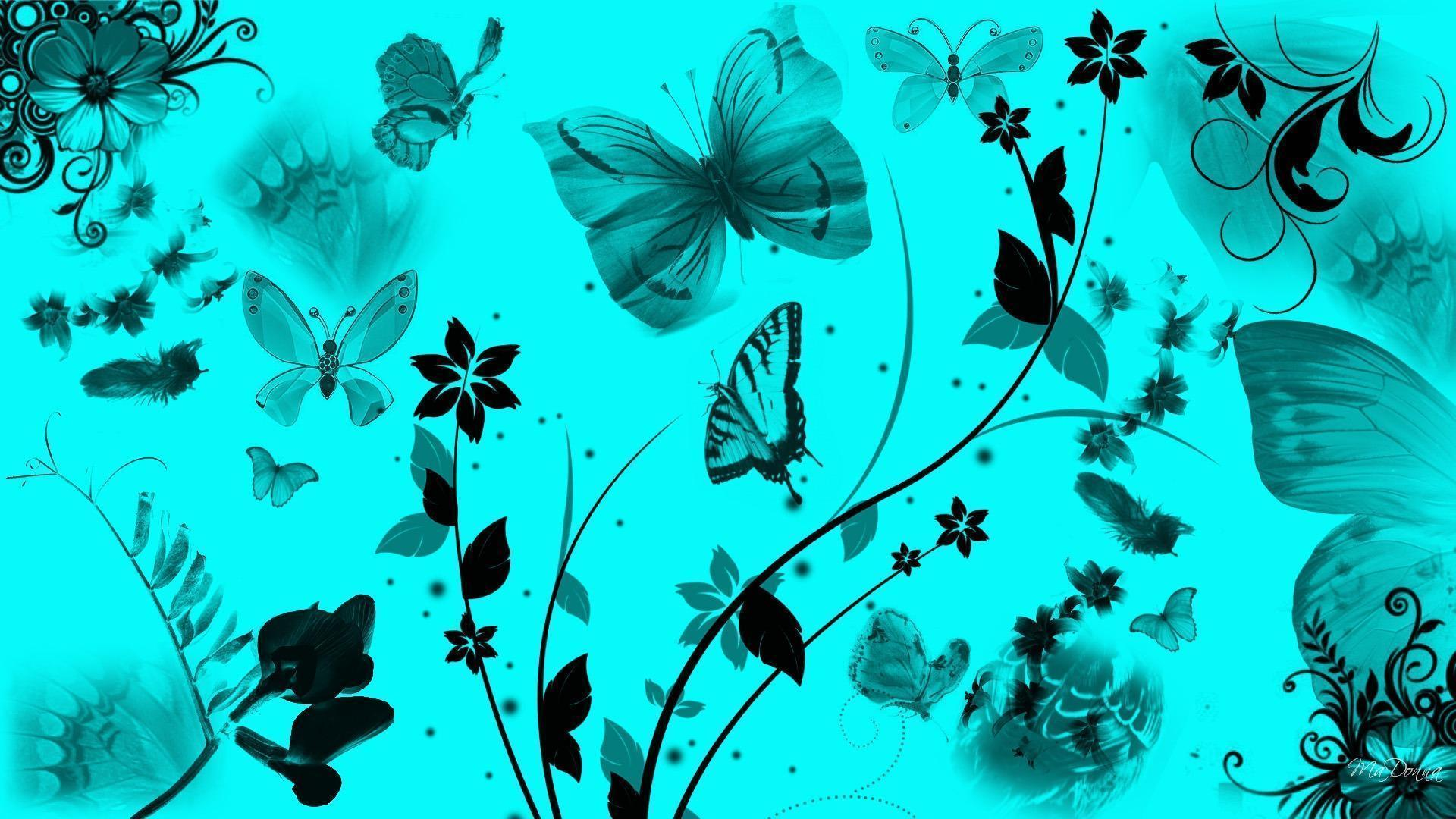 butterfly blue abstract wallpaper - photo #38