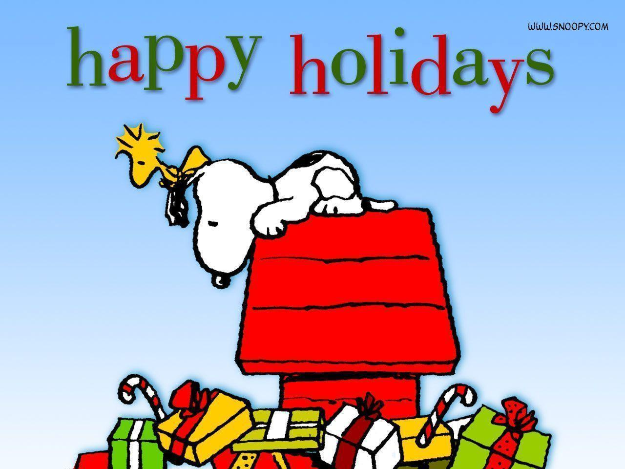 Snoopy Christmas Backgrounds - Wallpaper Cave