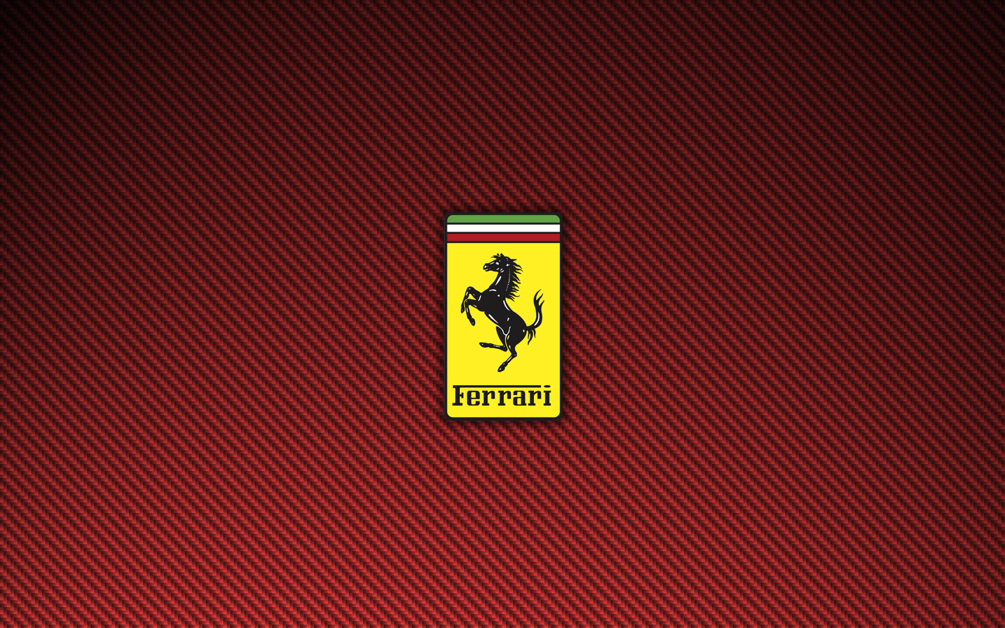 Ferrari Logo Red Carbon Fiber Wallpapers 1440×900