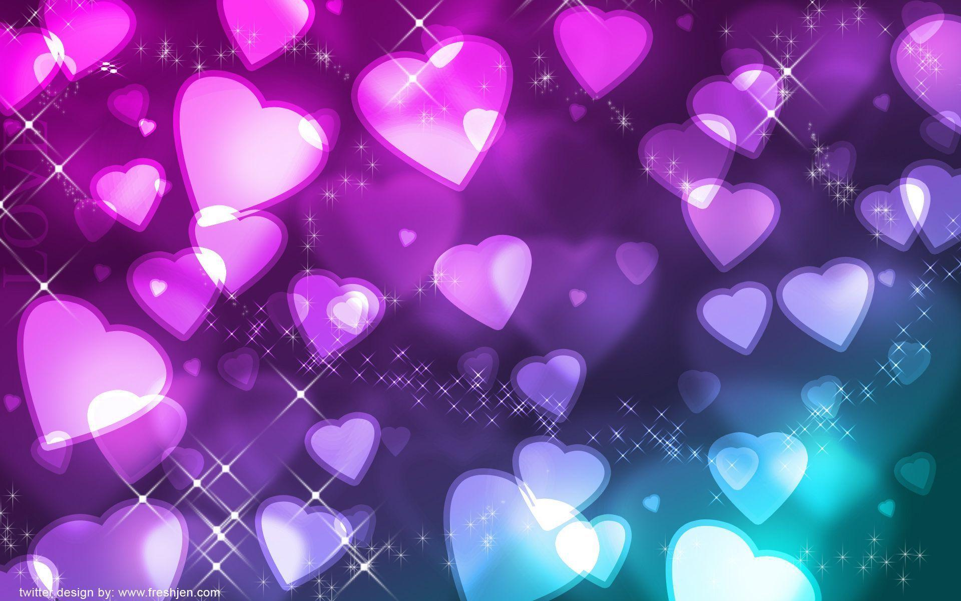 wallpapers purple hearts pink - photo #7