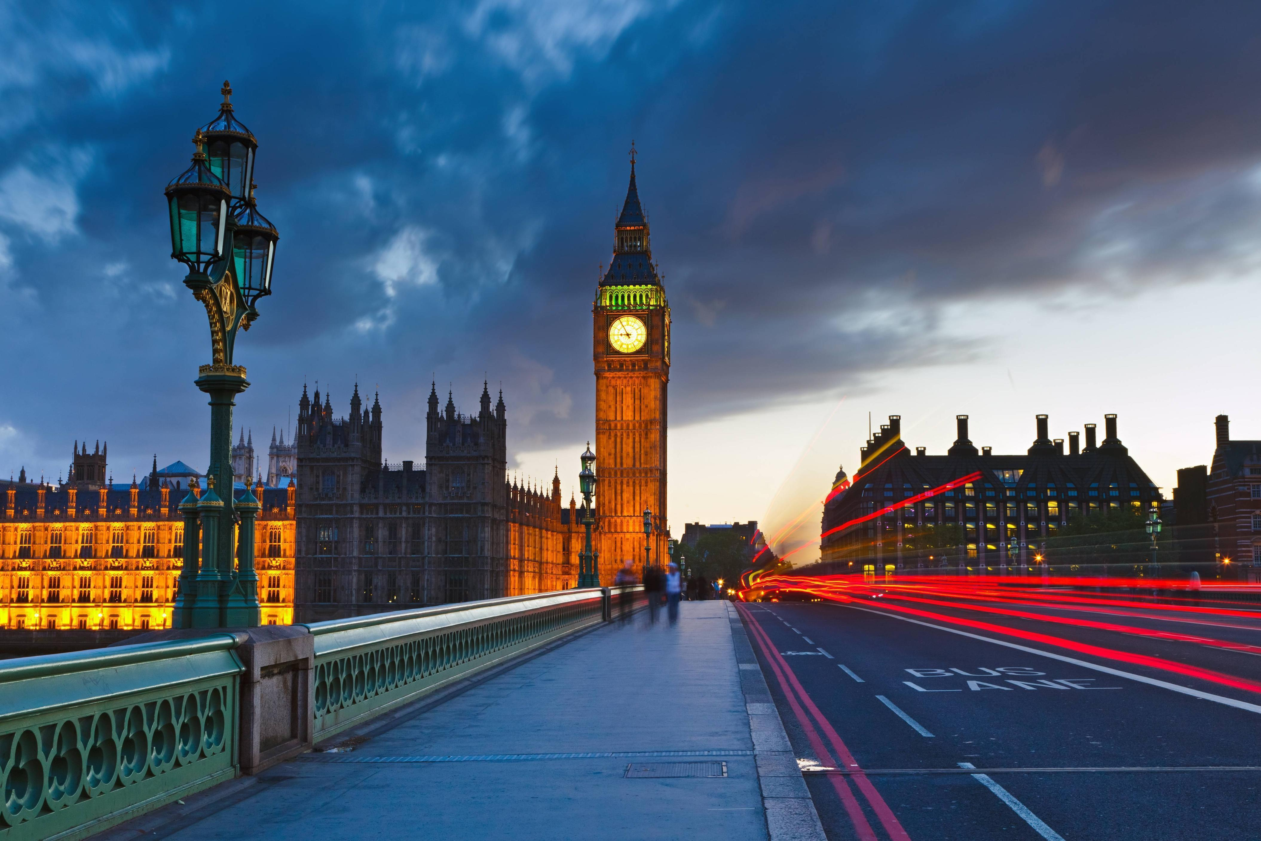 Download wallpapers Big Ben at night, London, city, England free