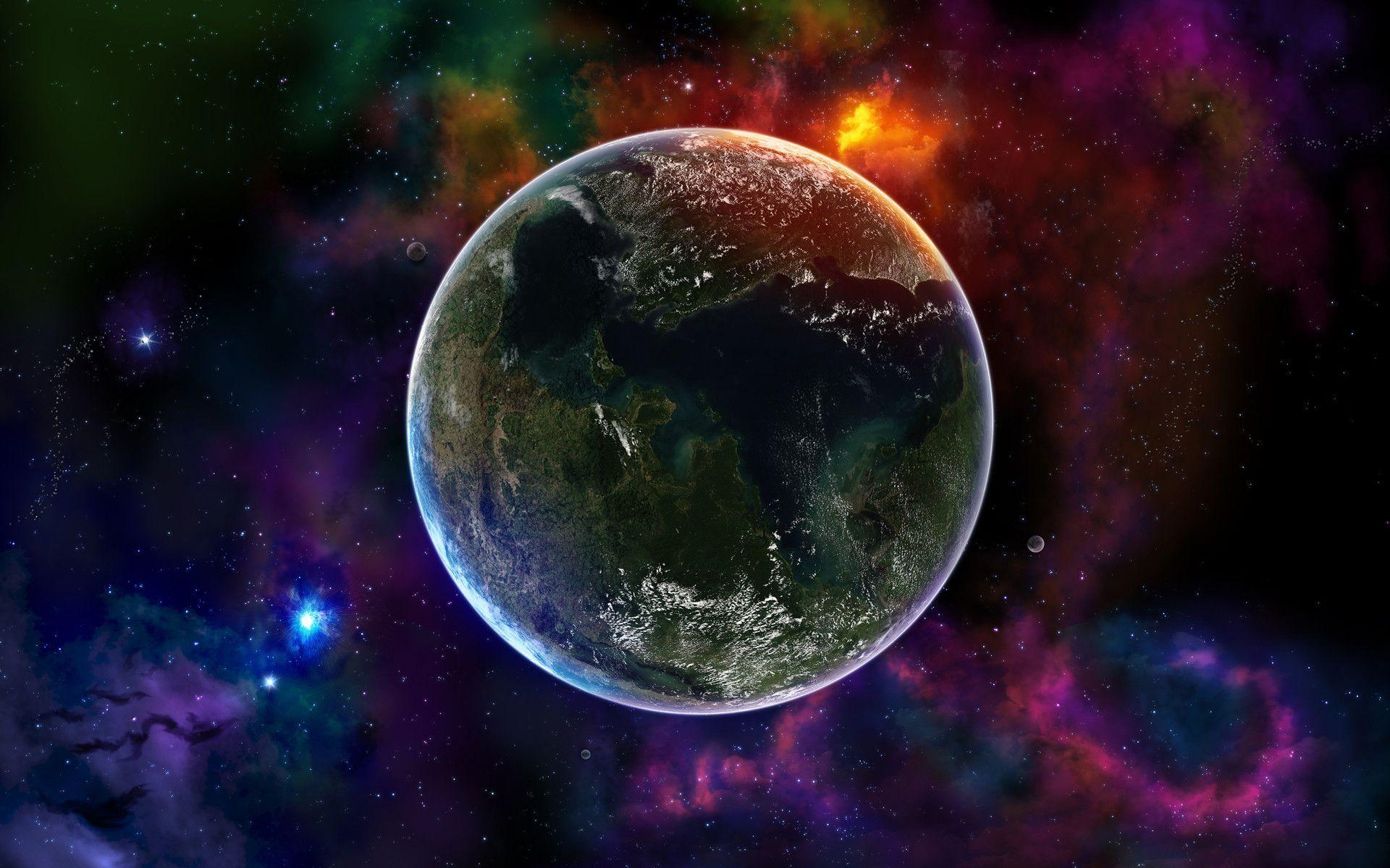 3d wallpaper colorful planets - photo #2