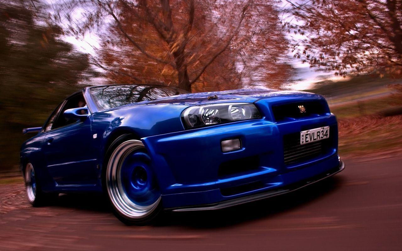 Blue and gray car, Nissan Skyline GT-R R35, drift, race ... |Nissan Skyline Drift Wallpaper