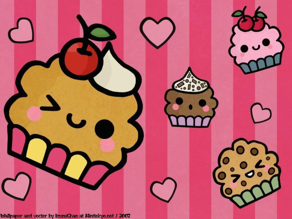 Cute cupcake backgrounds wallpaper cave - Kawaii food wallpaper ...