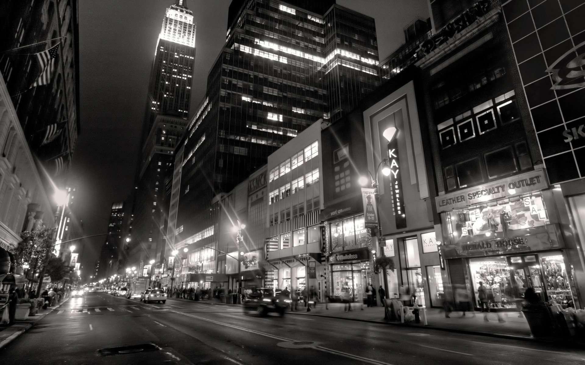 New York City Lights Wallpaper - Widescreen Wallpaper | HD ...