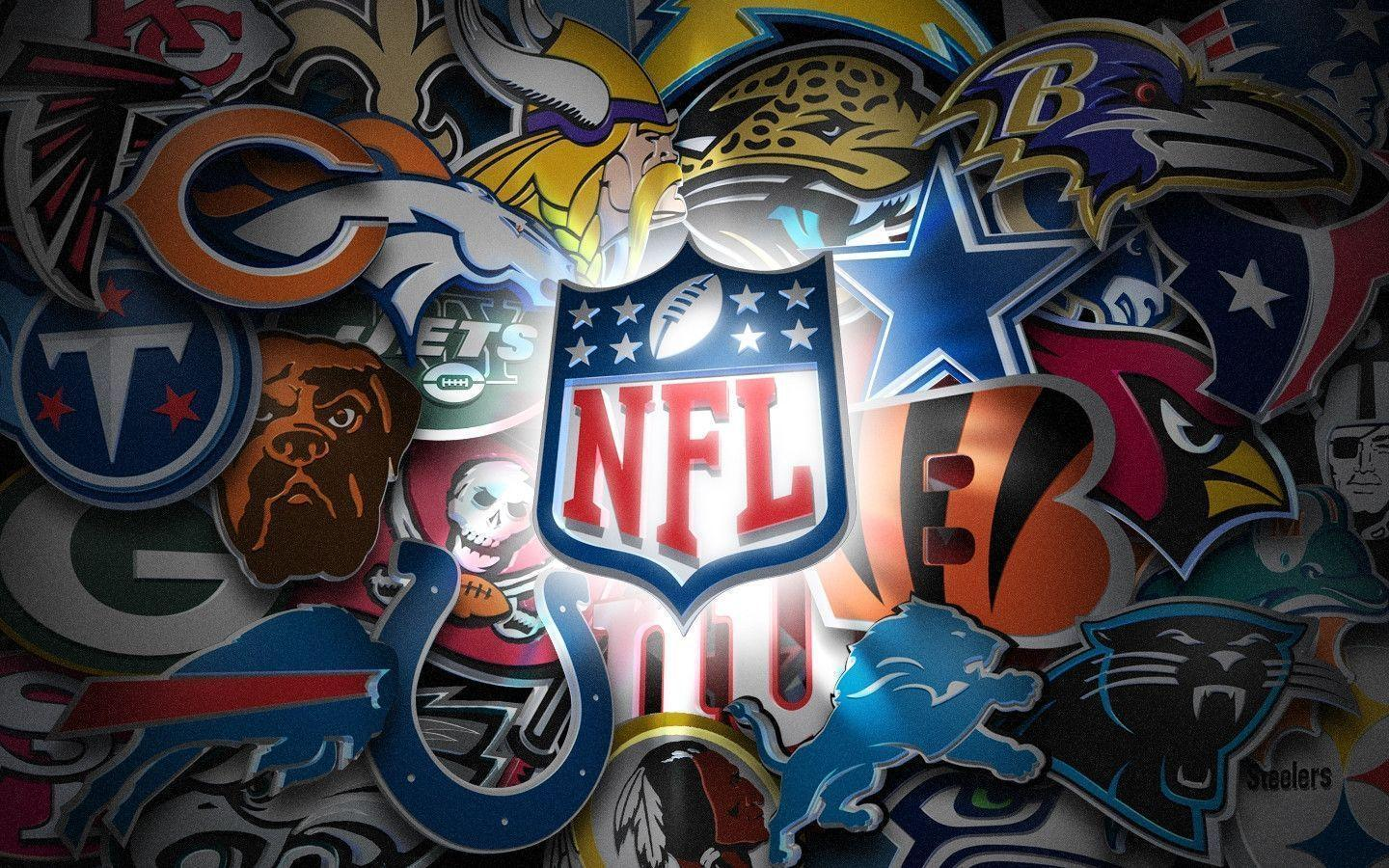 NFL Teams Logo Wallpapers 1440×900