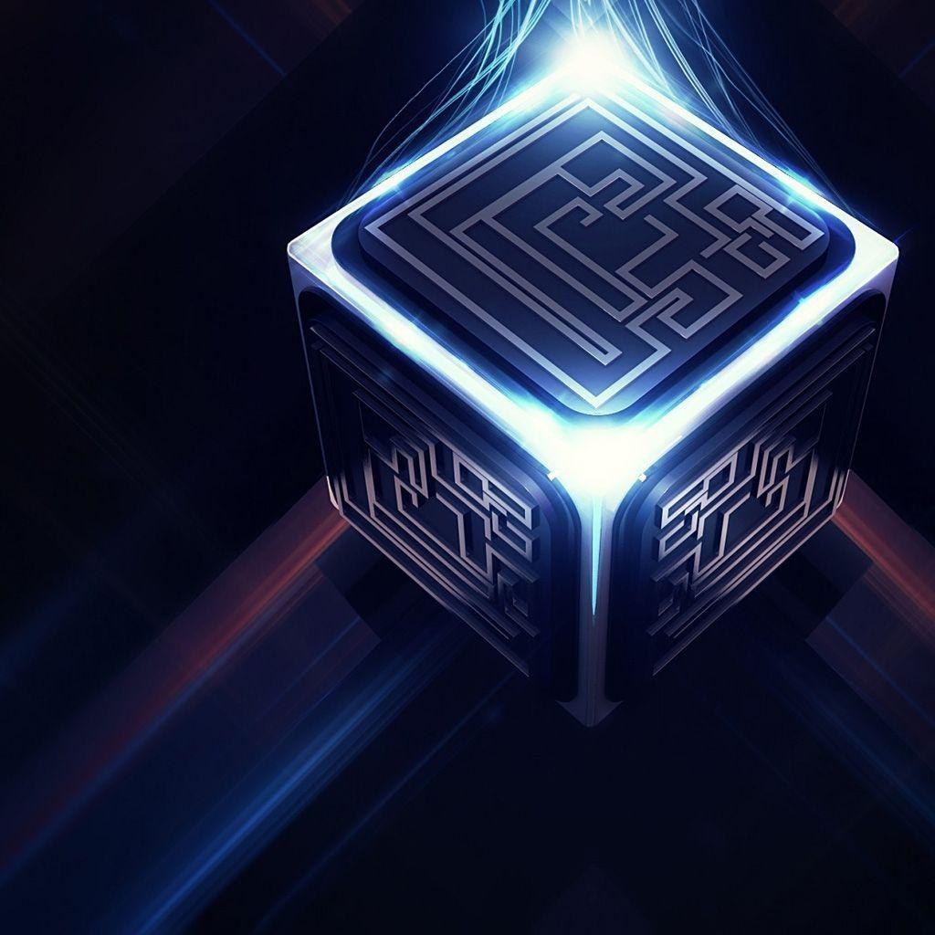 3D Cube Maze iPad Wallpapers Download