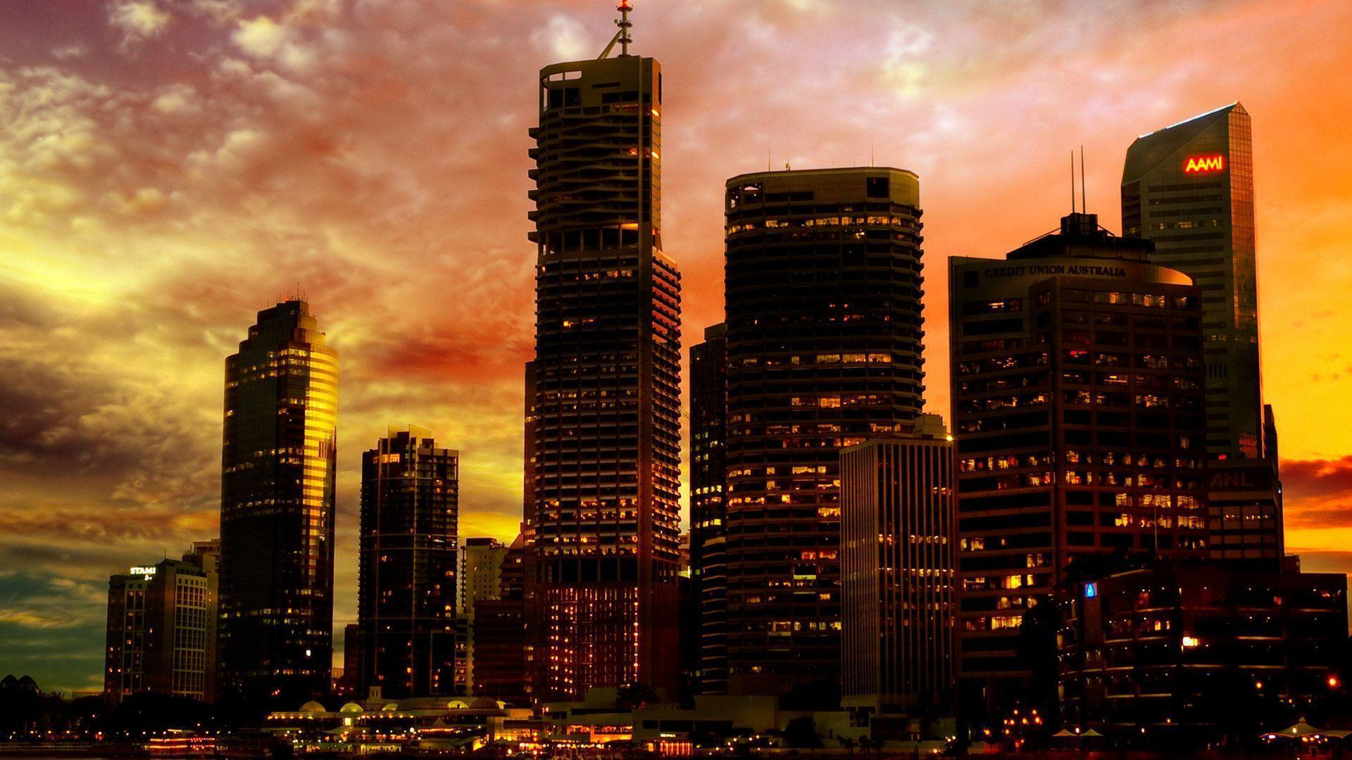 Wallpapers Sunset City Backgrounds 1 HD Wallpapers