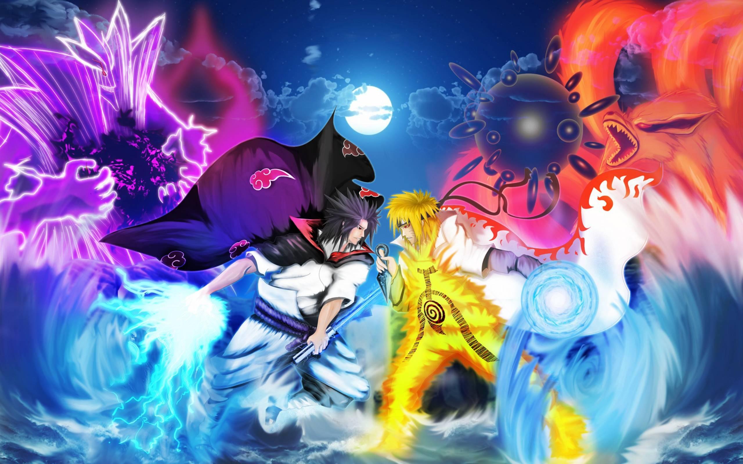 Live wallpaper #1: naruto vs sasuke (2560x1080 21:9) [wallpaper.