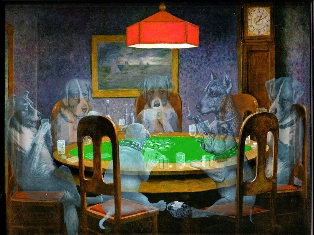 Poker dog picture