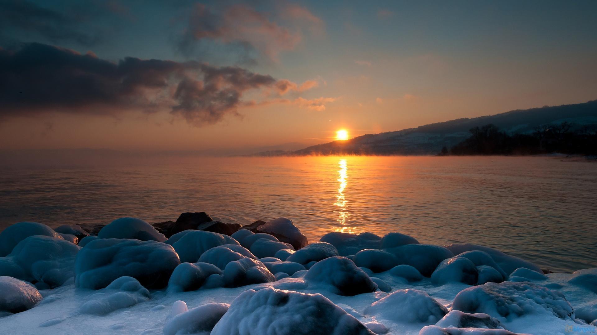 Winter Sunset Wallpapers - Wallpaper Cave