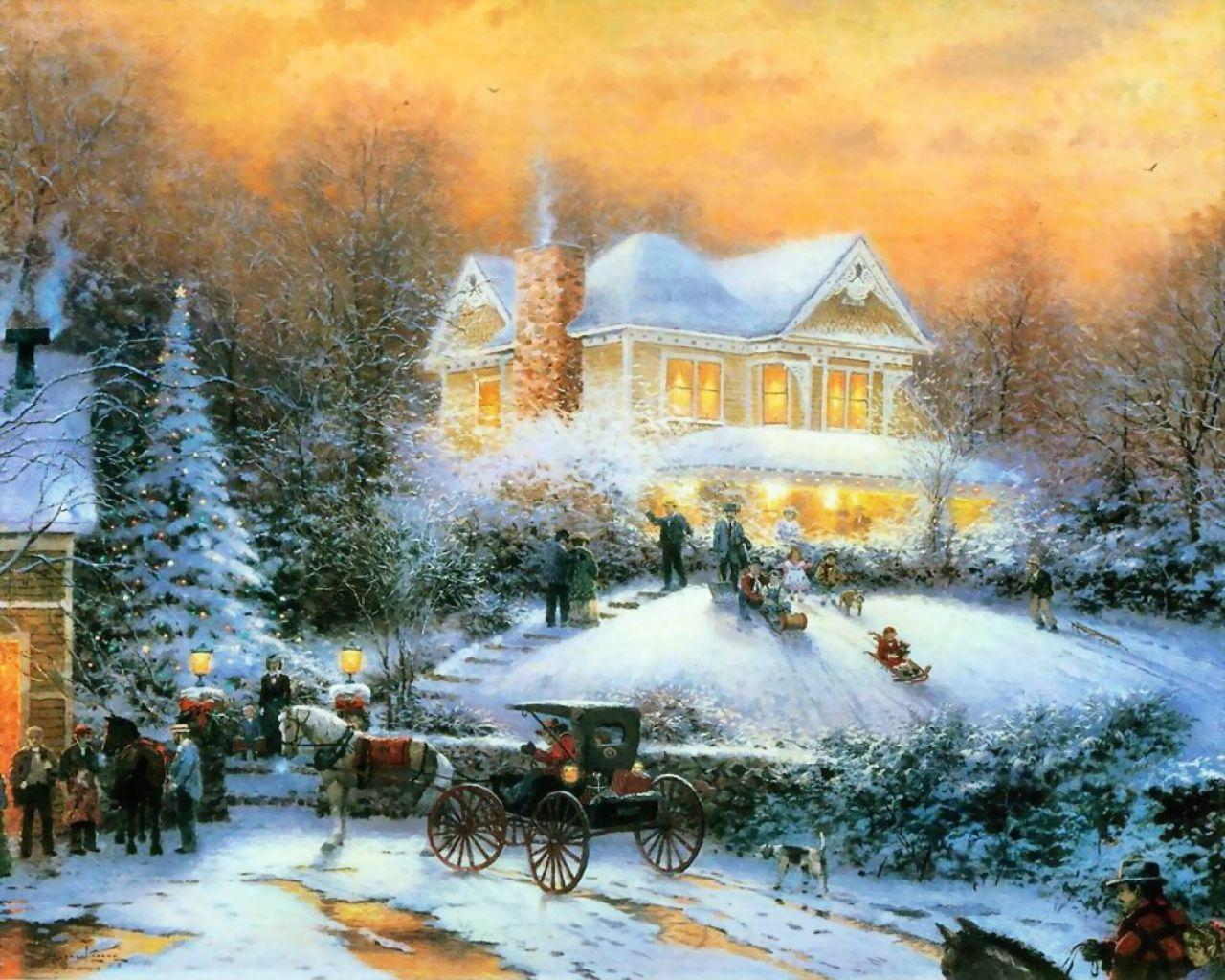 Thomas Kinkade Computer Wallpapers 33871 HD Desktop Backgrounds and