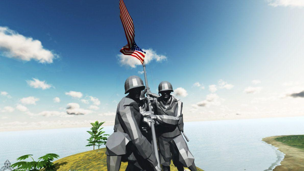 Iwo Jima Flag Raising Wallpapers