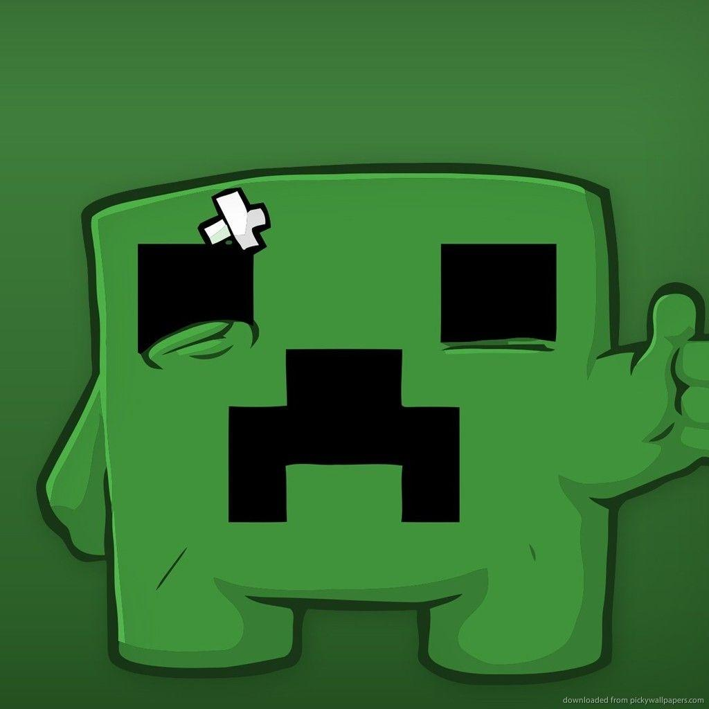 Download Sad Minecraft Creeper Wallpaper For iPad