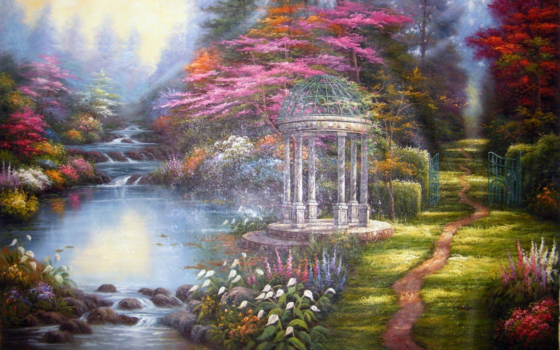 thomas kinkade wallpaper 1920x1080 - photo #1