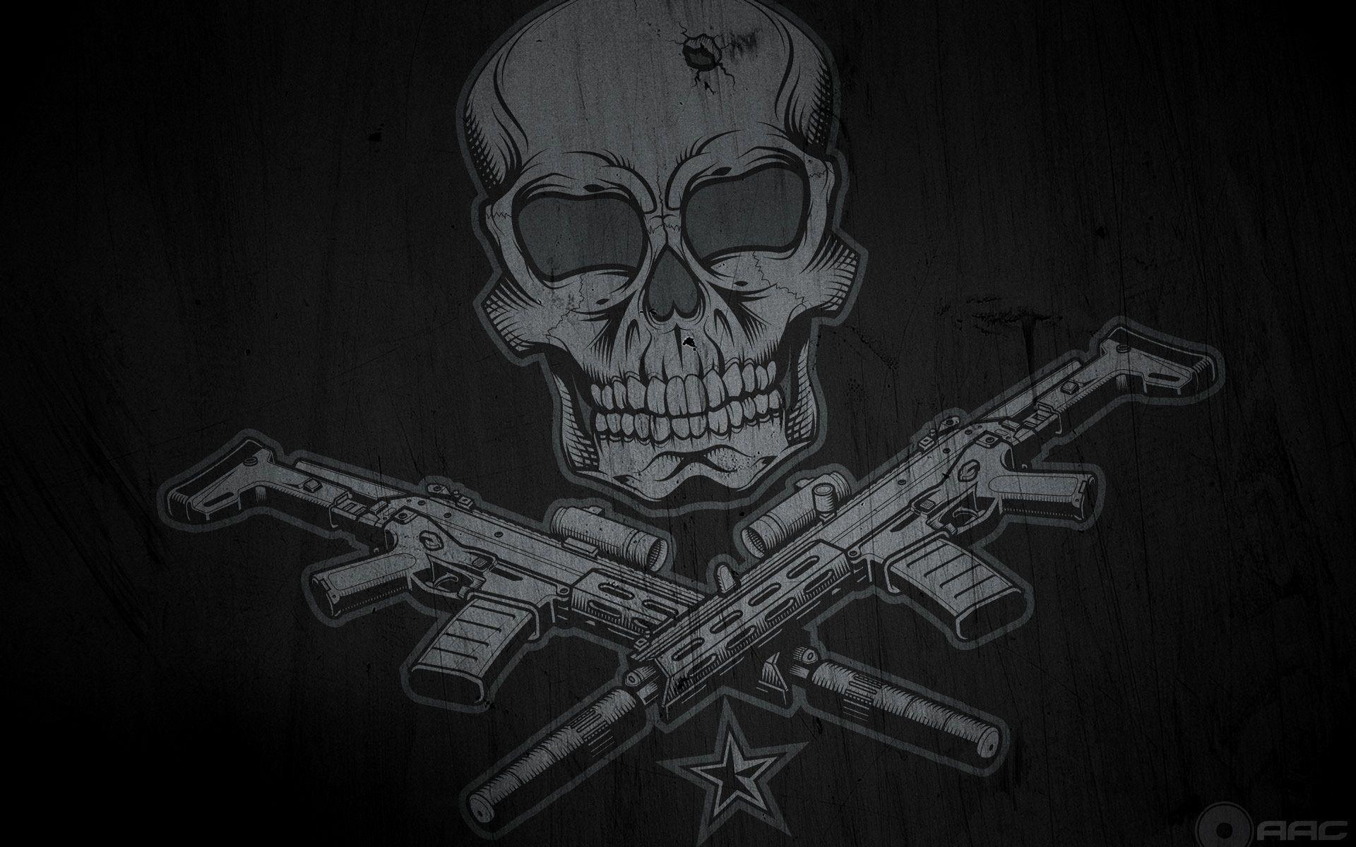 Skulls And Guns Wallpapers Wallpaper Cave