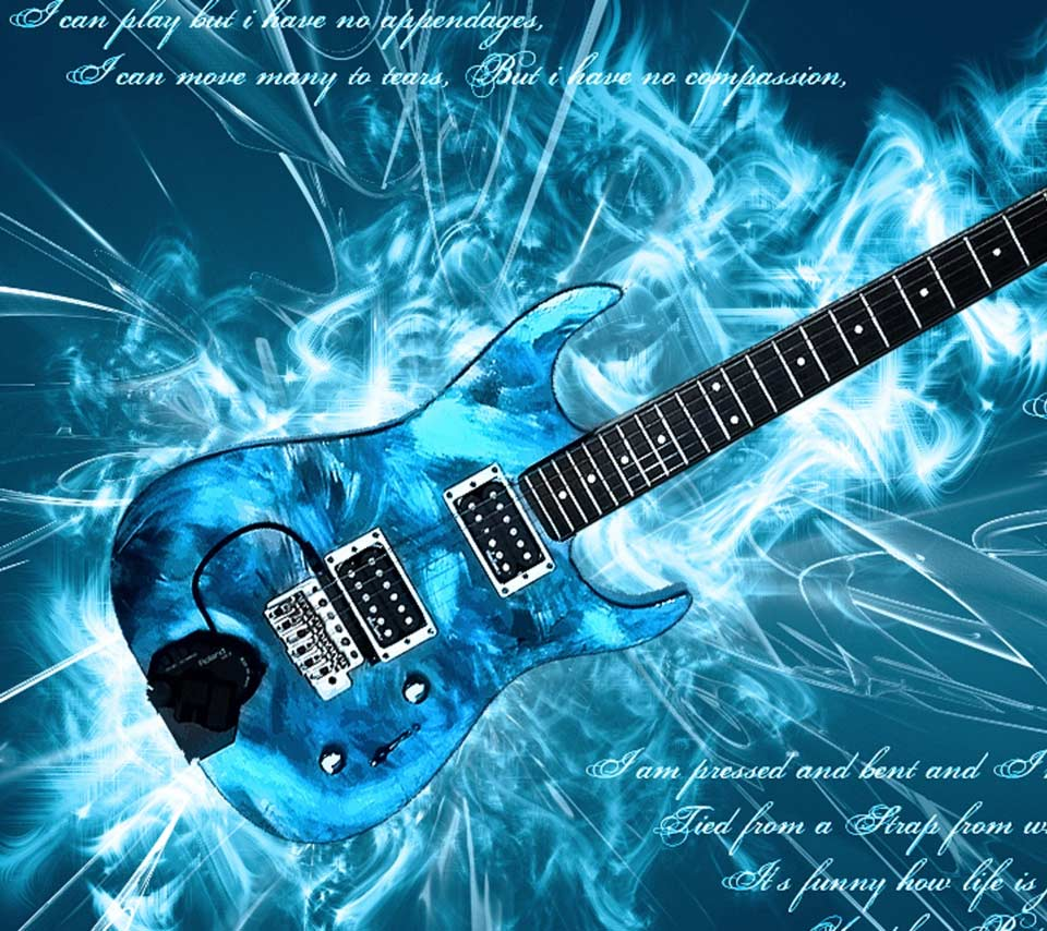 Blue Electric Guitar Wallpapers Image & Pictures