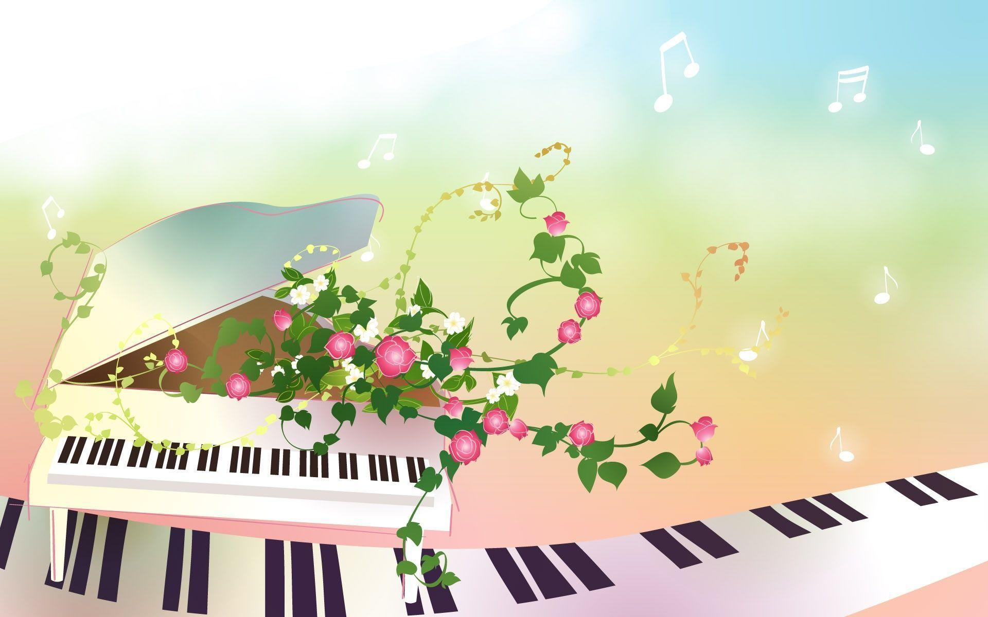 Cartoon Comic Anime Piano Wallpapers