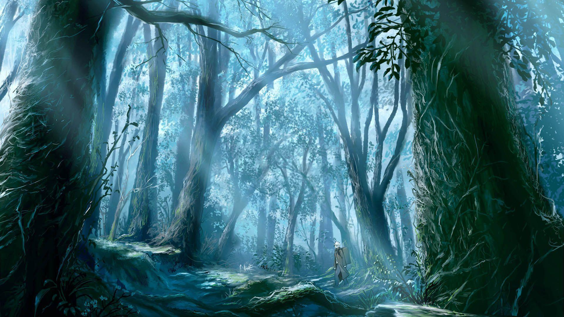 Images For > Anime Forest Background