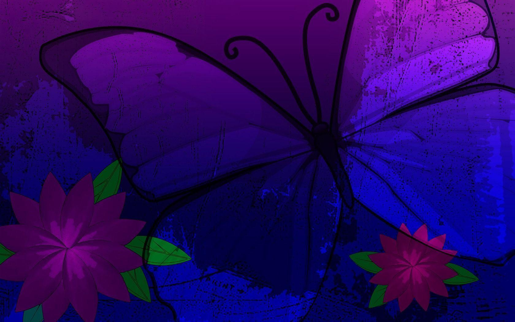 butterfly blue abstract wallpaper - photo #36