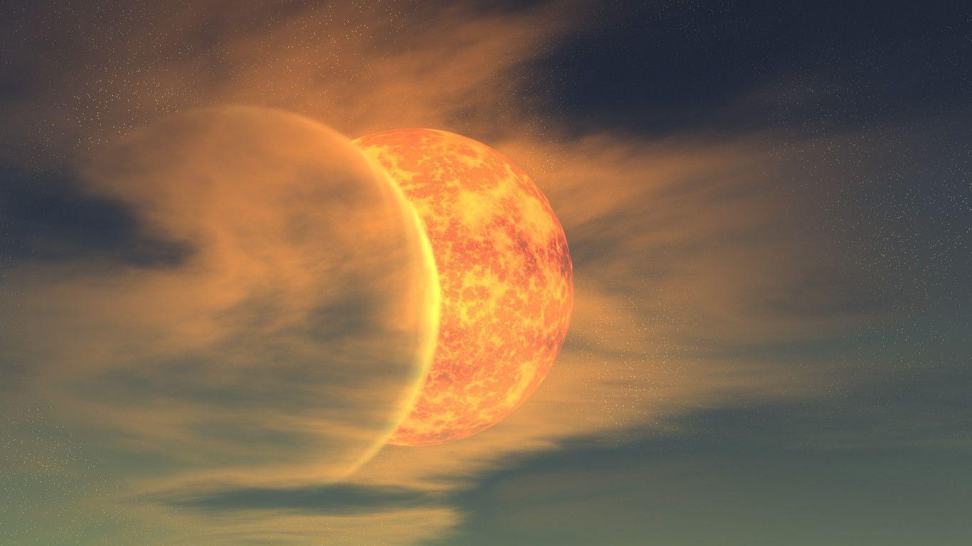 moon in sun