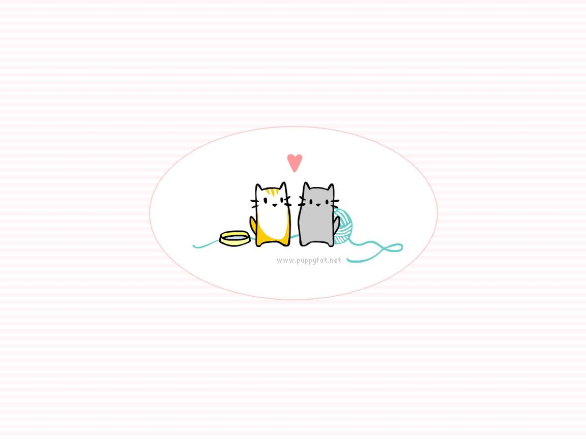 Kawaii Cat Wallpaper , Kitty Backgrounds