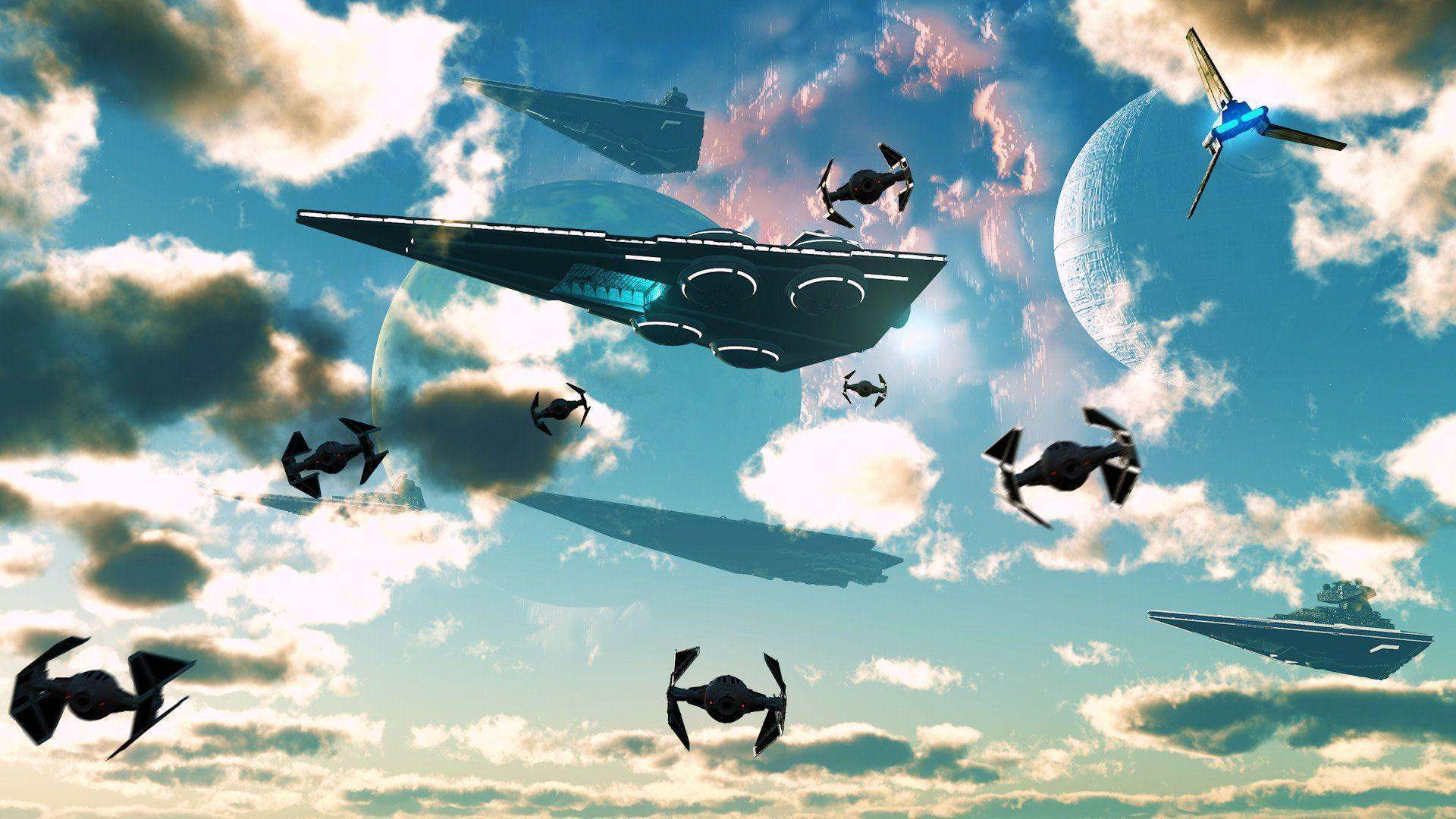 Star Wars Imperial Fleet Arrival Desktop Wallpaper