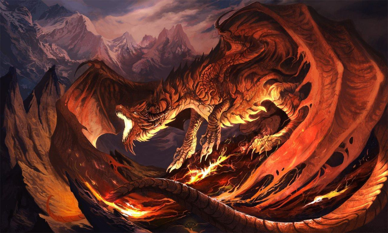 Red Fire Dragon: 3D Dragon Wallpapers