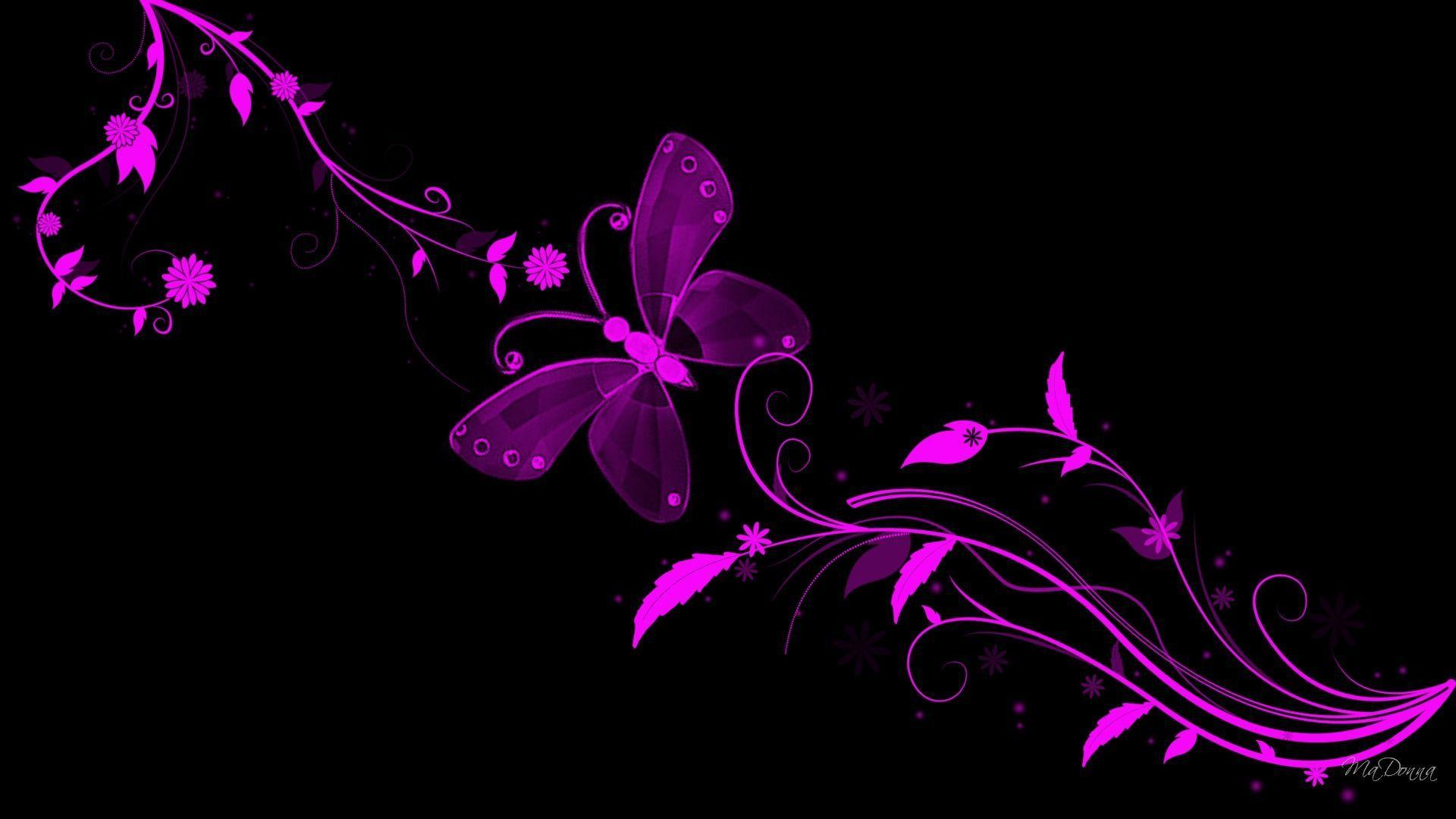 Wallpapers For > Black Purple Wallpapers