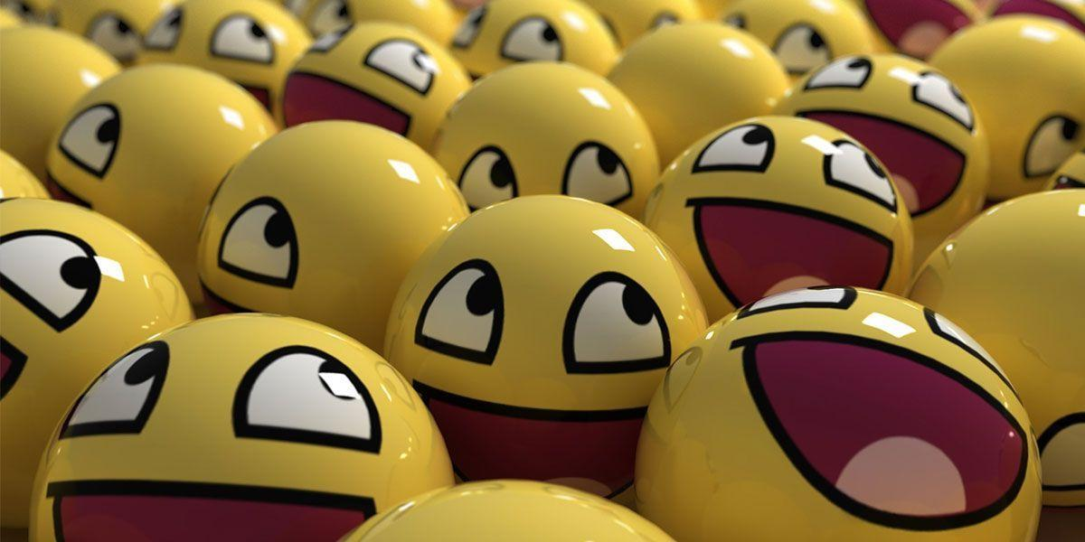 3D Smiley Face Twitter Cover & Twitter Backgrounds