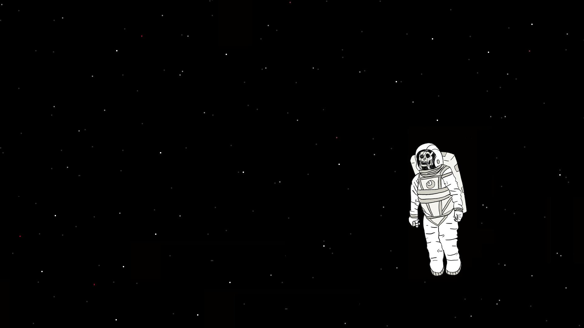 astronaut black background - photo #7