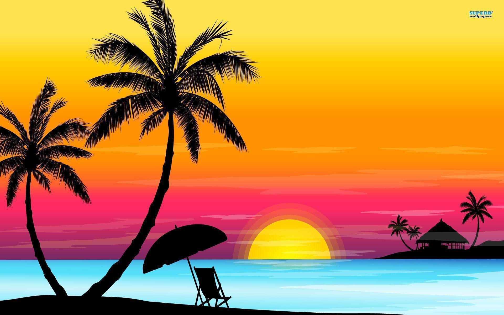 Vector Love cartoon Wallpaper : Sunset Beaches Wallpapers - Wallpaper cave