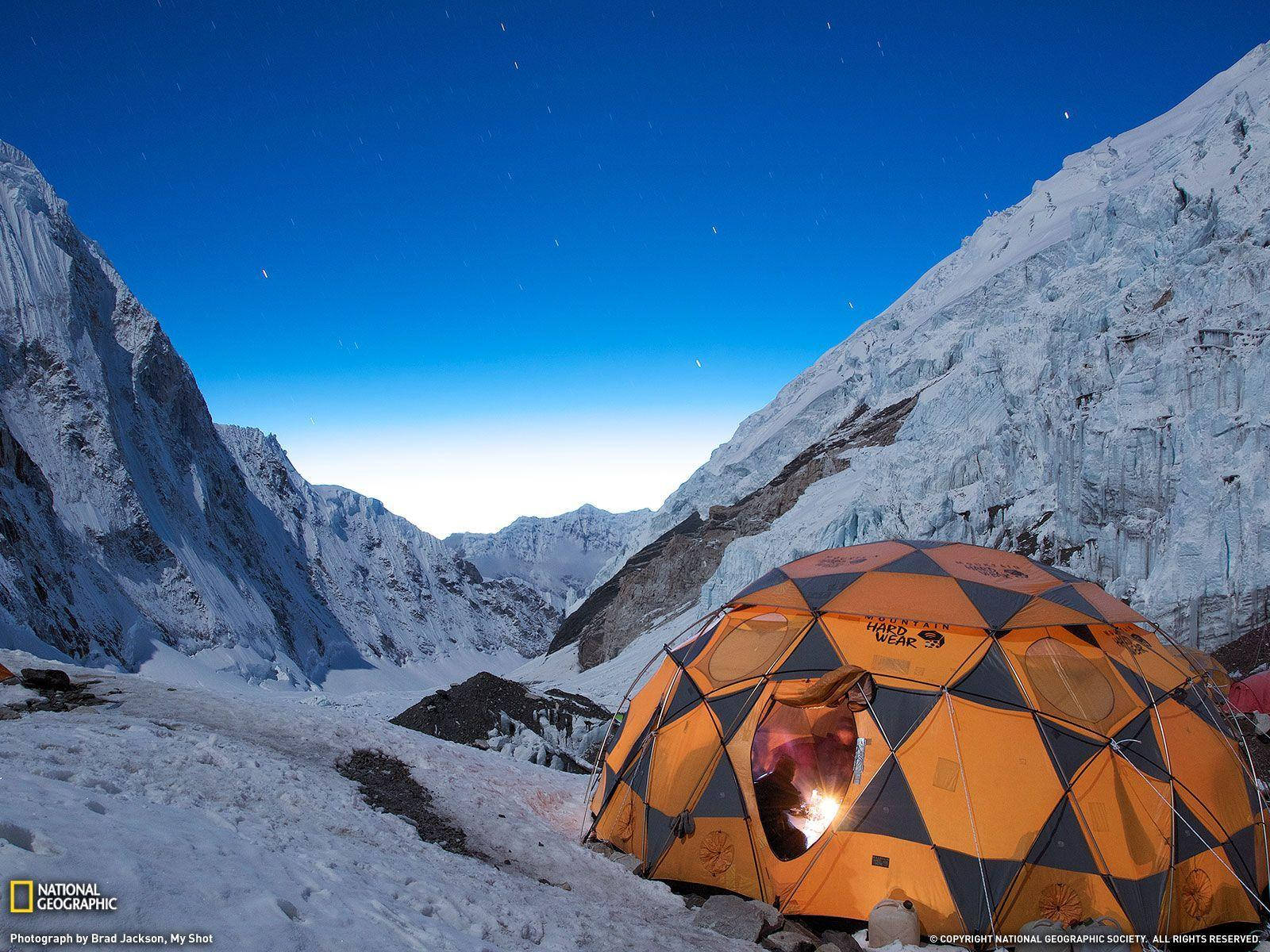 Stars Over Campsite Picture, Mount Everest Wallpaper - National ...