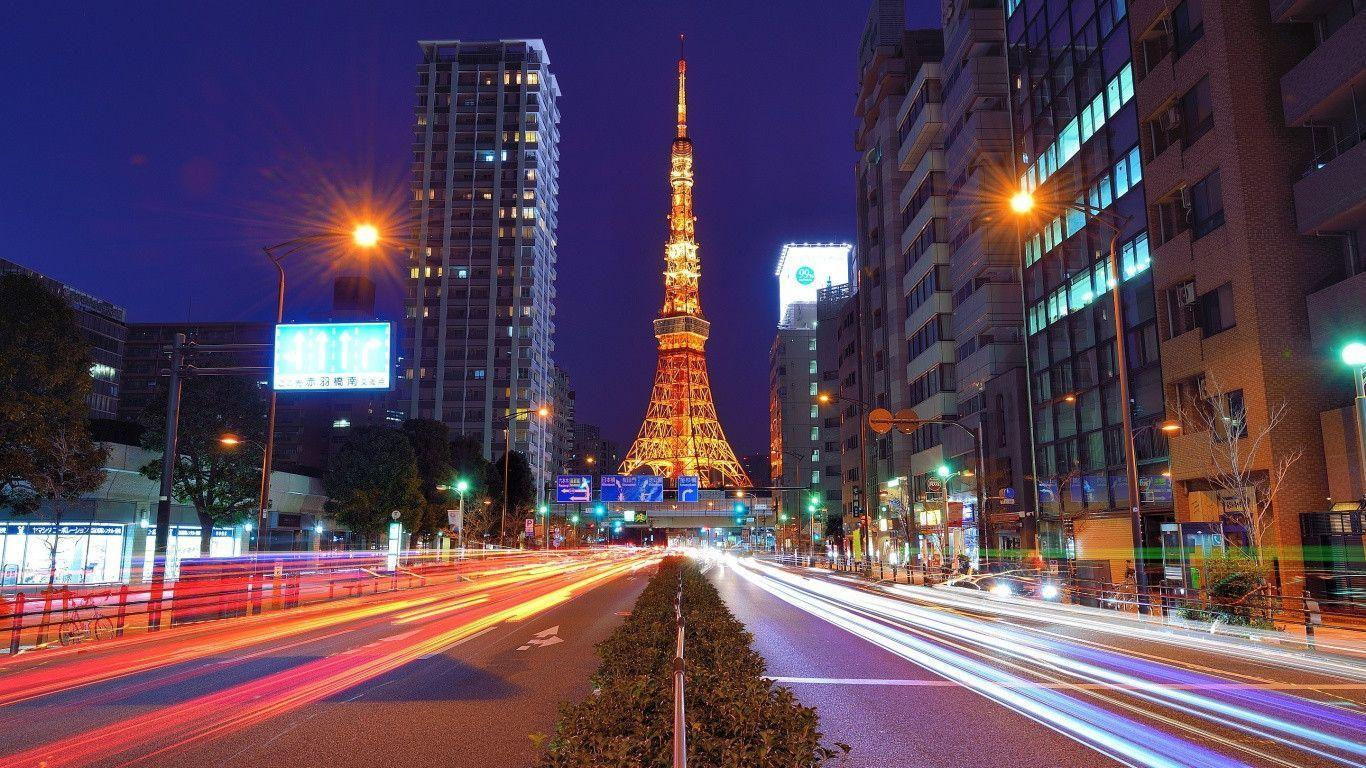 Tokyo Tower Cityscapes Wallpaper HD #12257 Wallpaper | ForWallpapers.