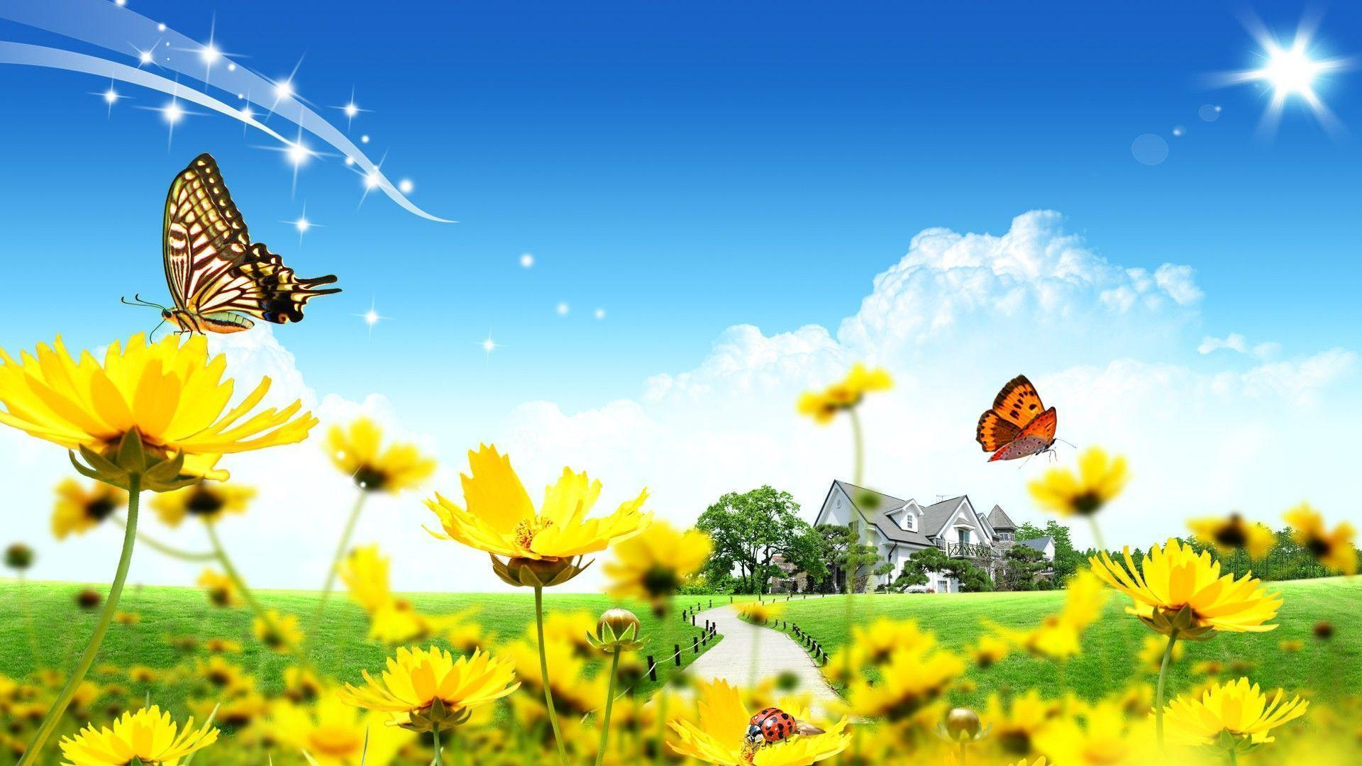 Spring theme wallpapers wallpaper cave for Ete wallpaper