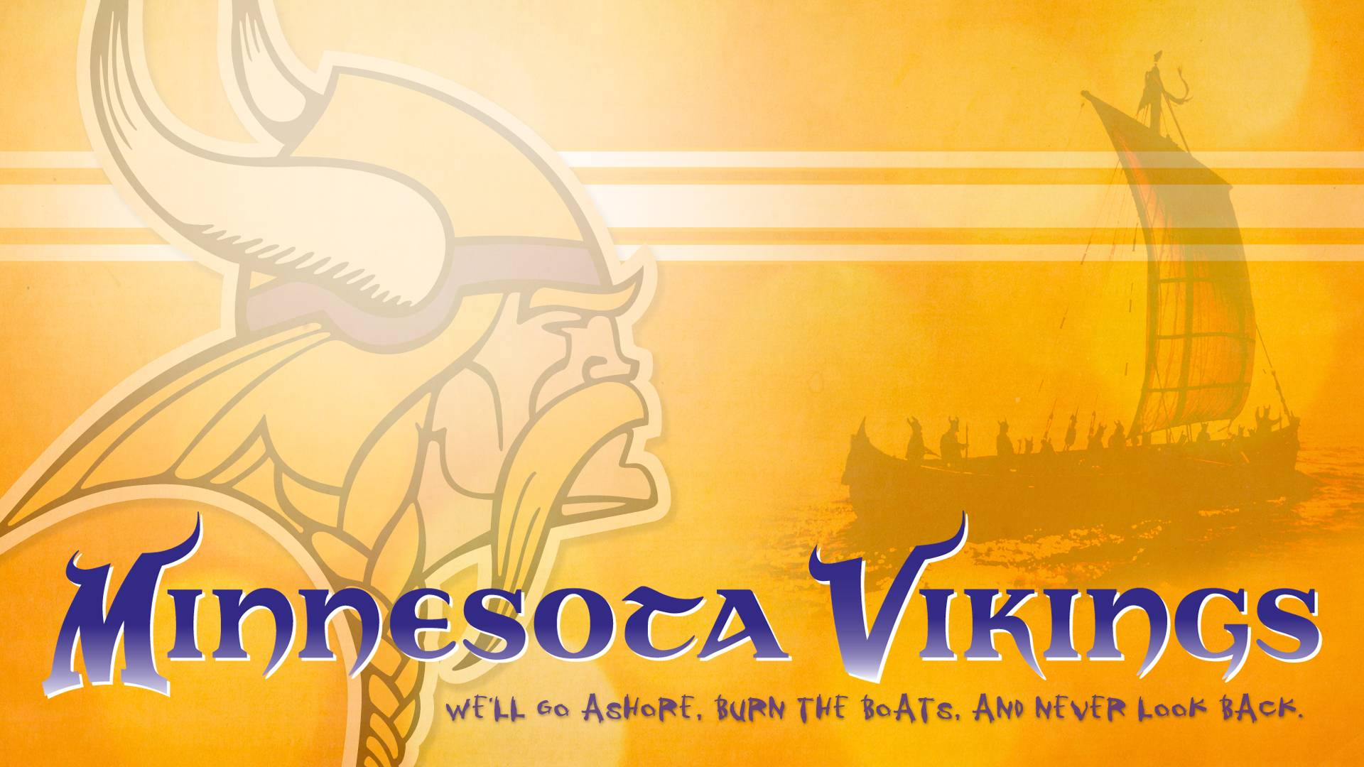 Minnesota Vikings go ashore... Wallpaper