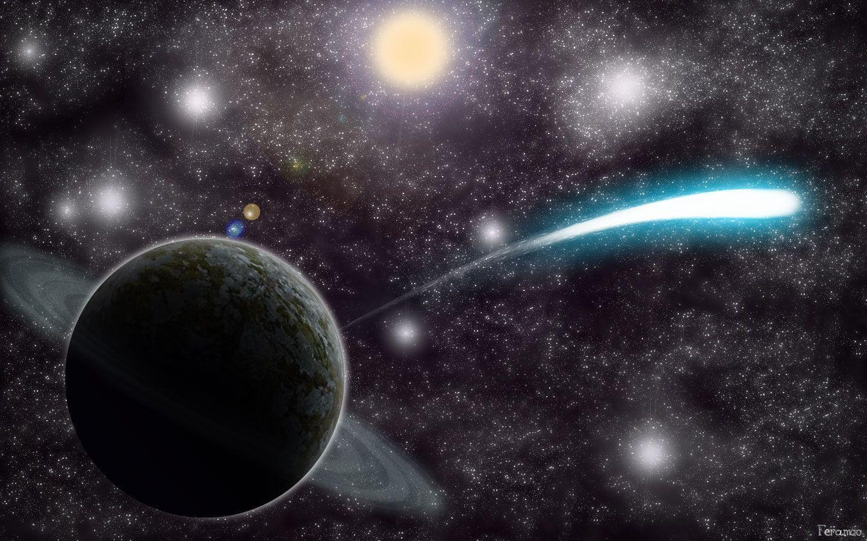 amazing shooting stars space - photo #7