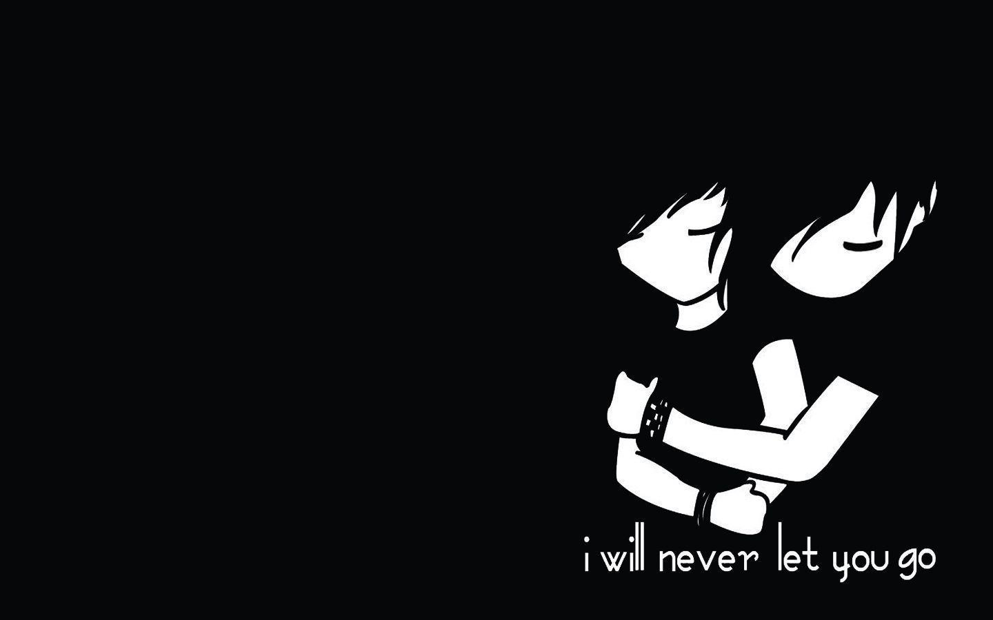 Art black and white love emo hugging hd wallpapers emo boy hd