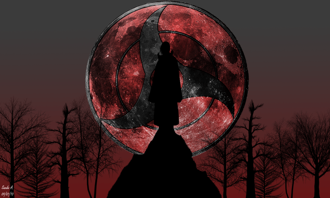 Wallpapers For > Itachi Uchiha Mangekyou Sharingan Wallpaper