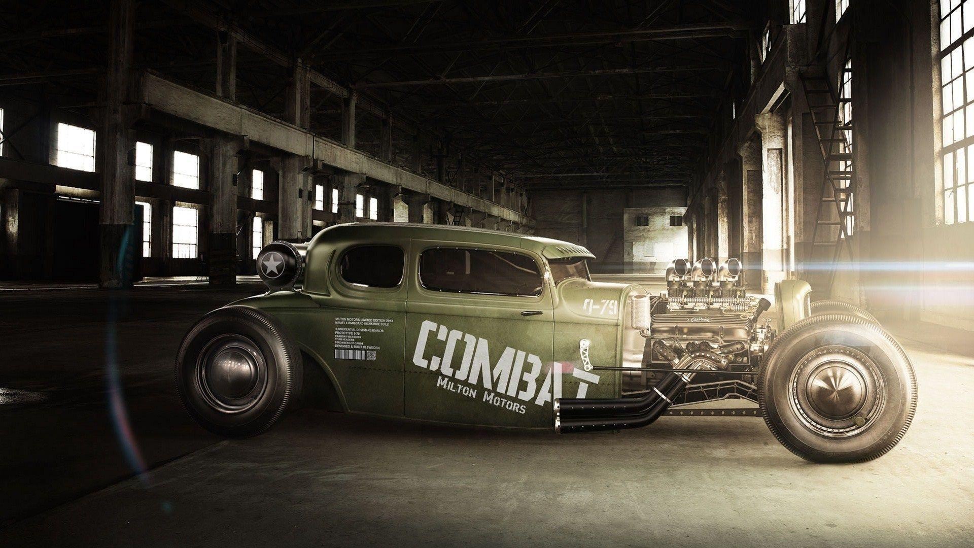 milton motors combat rat rod muscle car wide hd wallpaper - WPWide